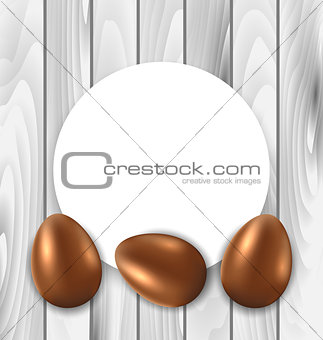 Celebration Card with Easter Chocolate Eggs