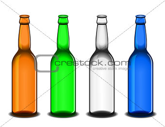 Four empty beer bottles
