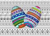 eggs decoration on the seamless pattern