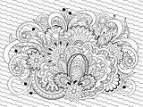 doodle flowers, herb and mandalas