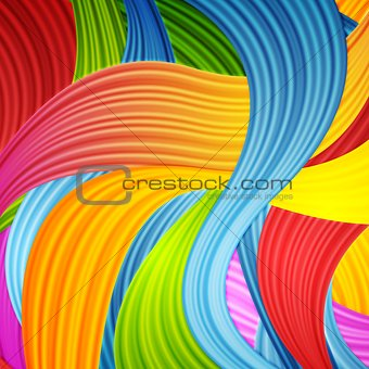 Abstract colorful wavy pattern design