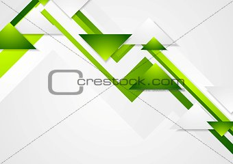 Abstract green tech corporate vector background