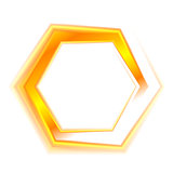 Orange hexagon emblem logo for web design