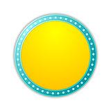 Shining yellow circle retro light banner