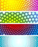 Bright shiny circles abstract banners