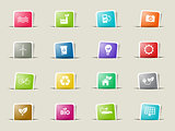 Alternative energy simply icons