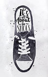 Poster men's sport shoes