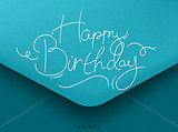 Birthday envelope blue
