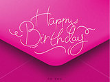 Birthday envelope pink