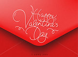 Valentines envelope red