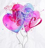 Valentines day balloon hearts