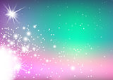 Colorful Background with Glowing Stars