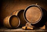 Barrels and corkscrew