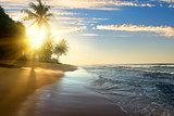 Bright sun and ocean