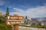 Sign at Glacier Point in Yosemite National Park