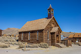 Old church in abandoned ghost town Bodie