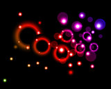 background with circles and stars