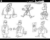 cartoon businessmen set
