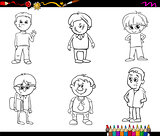 kid boys set coloring book