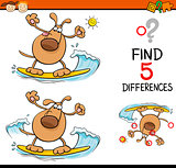 task of differences cartoon