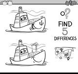 find the differences coloring page