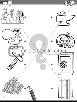 match elements coloring page