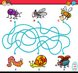 educational maze task for kids