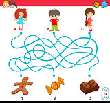 task of path maze for children