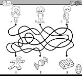 maze puzzle coloring page