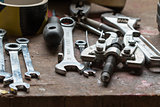 Various hand tools - spanned spanners