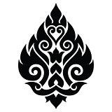 Thai art pattern, traditional design form Thailand