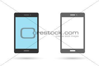 Smart phone icon flat