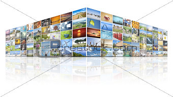 100 screens video wall