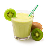 kiwi smoothie isolated
