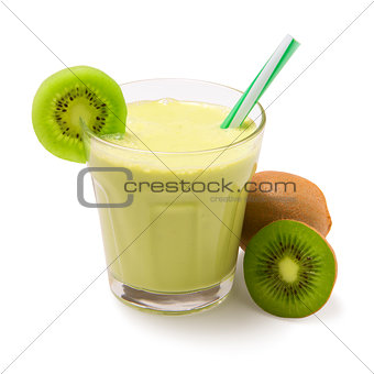 kiwi smoothie isolated
