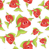 Red fish seamless