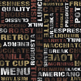 coffee text pattern