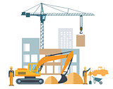 building project, construction site