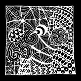 Zentangle ornament, sketch for your design