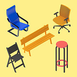 Chair armchair stool bench furniture