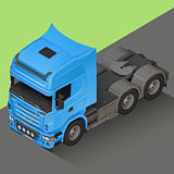 Delivery Cargo isometric Truck vector