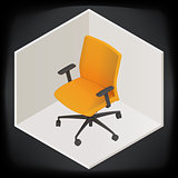 vector office chair isometric perspective