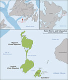 Saint Pierre and Miquelon map