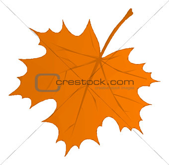 Autumn Maple Leaf Low Poly