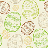Abstract Easter seamless pattern