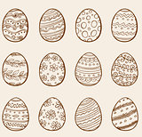Hand drawn eggs
