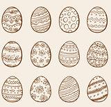 Hand drawn eggs