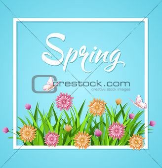 Blue spring background