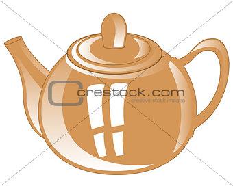Gray teapot from porcelain