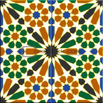 Arabic tiles seamless pattern. Havana, Cuba